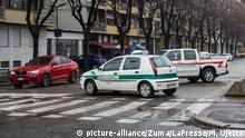 Italien Turin via Nizza Bombenentschärfung