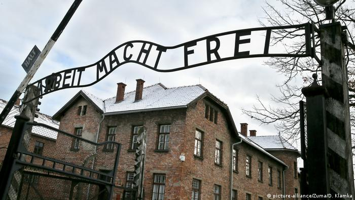 Polen Auschwitz KZ-Eingang