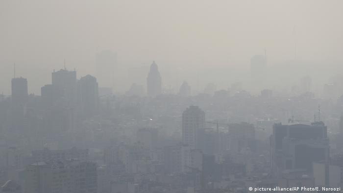 Iran Luftverschmutzung in Teheran