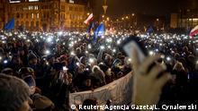 Polen Posen Protest gegen Justizreform der Regierung