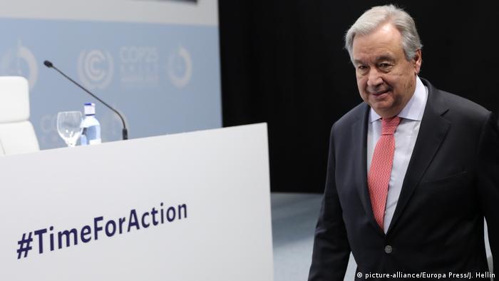 Spanien Madrid Antonio Guterres vor der 25. UN-Klimakonferenz
