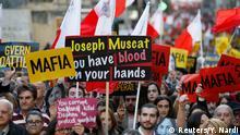 Malta Valetta Demonstration für ermordete Journalistin Daphne Caruana Galizia