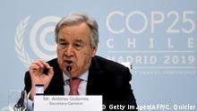 Spanien Madrid l PK Antonio Guterres vor der 25. UN-Klimakonferenz