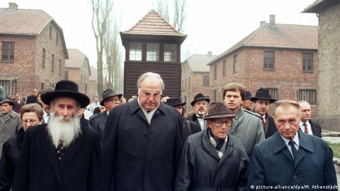 Helmut Kohl w Auschwitz (12.11.1989)