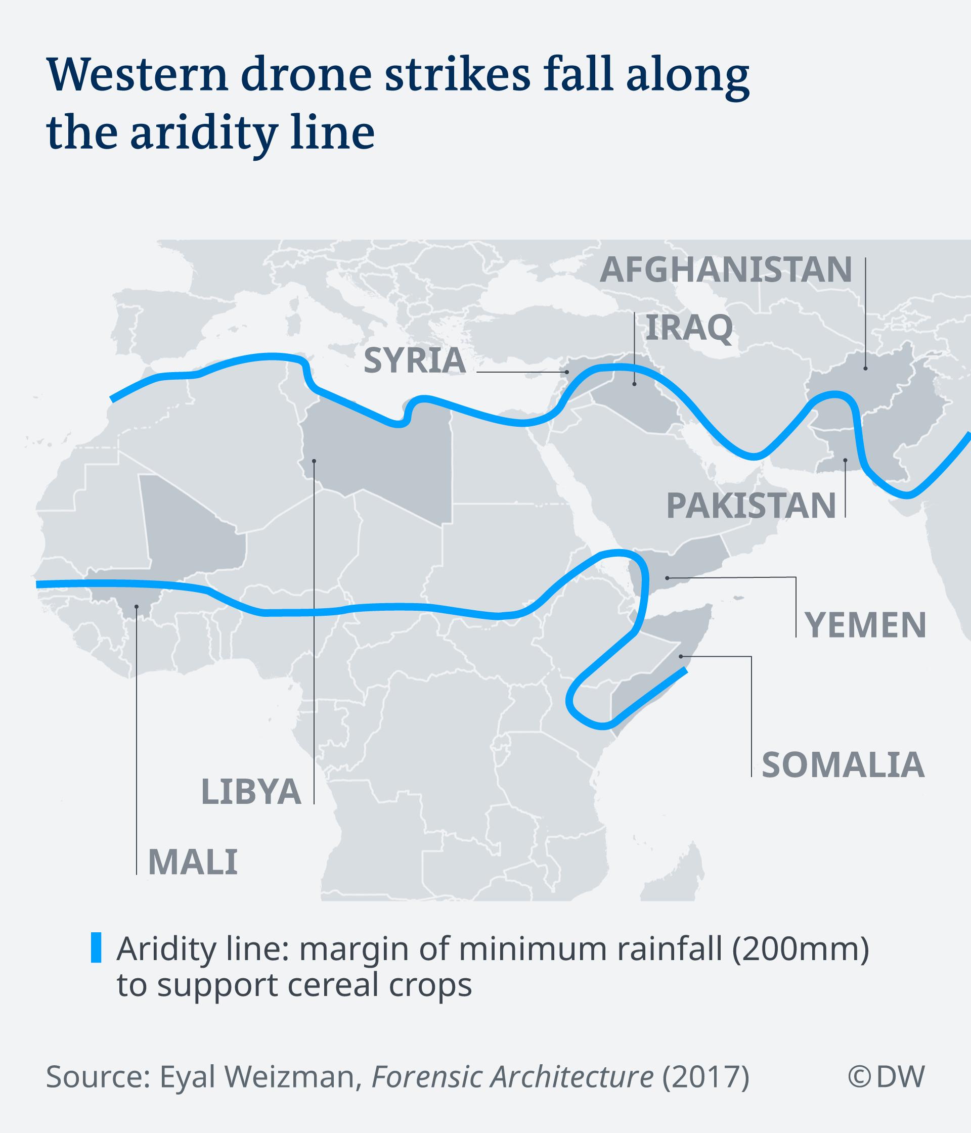 Infografik Drohnenangriffe an der Ariditätslinie EN