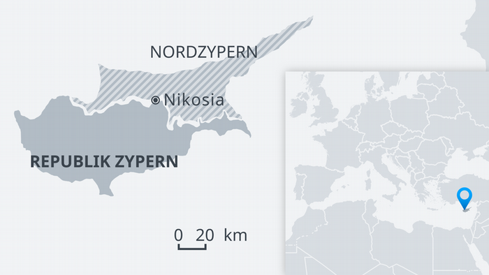 Karte Zypern DE