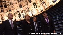 Israel Jad Waschem - Gedenkstätte in Jerusalem l Besuch von Kanzlerin Merkel