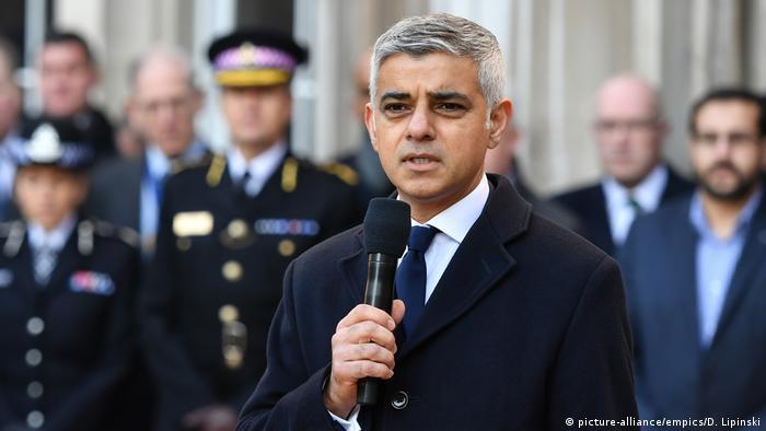 UK London nach Terrorattacke auf der London Bridge - Mahnwache, Bürgermeister Sadiq Khan