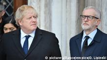 UK London nach Terrorattacke auf der London Bridge - Mahnwache, Boris Johnson und Jeremy Corbyn