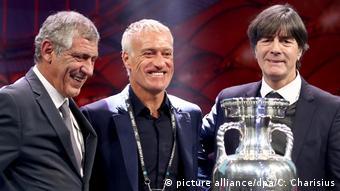 UEFA Fußball-EM 2020 - Auslosung in Bukarest l Fernando Santos, Didier Deschamps und Joachim Löw