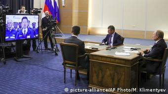 Russland Videokonferenz Präsident Wladimir Putin mit China Präsident Xi Jinping