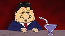 Karikatur von Sergey Elkin Gaspipeline Sila Sibiri
