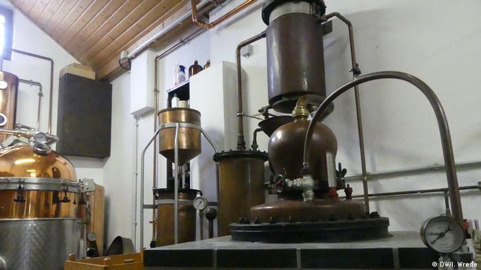 Stills at the distillery
