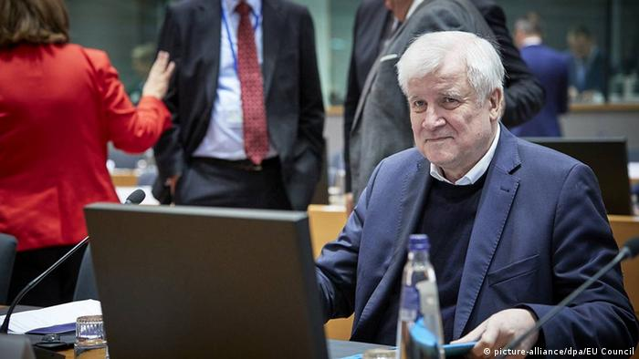 Treffen der EU-Innenminister in Brüssel   Horst Seehofer
