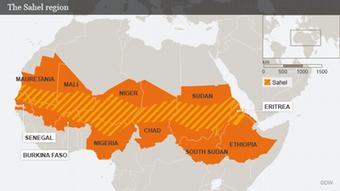 Karte Afrika Sahelzone englisch Flash-Galerie