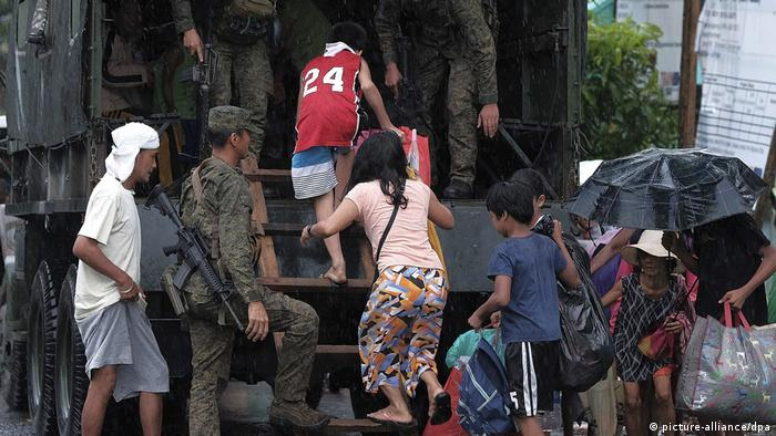 People forced to flee their homes
