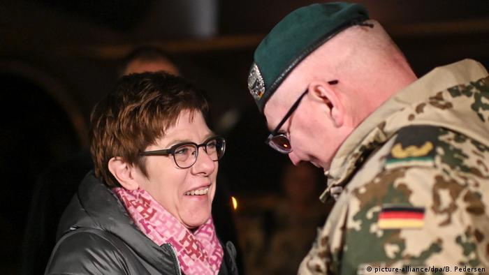 Annegret Kramp-Karrenbauer meets troops in Afghanistan