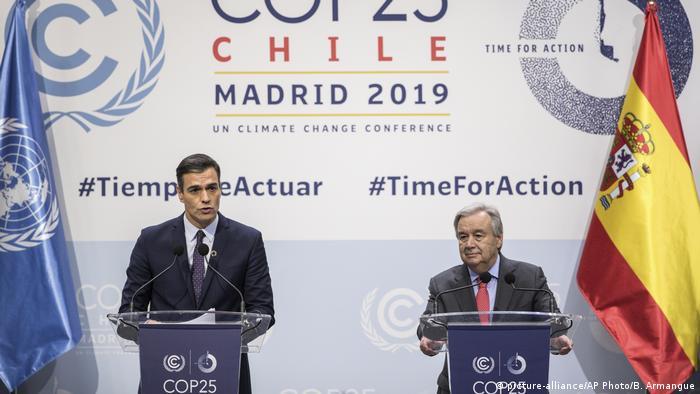 COP25 25. UN-Klimakonferenz in Madrid | Pedro Sanchez und Antonio Guterres