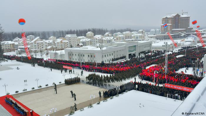 The opening of the Samjiyon township in North Korea (Reuters/KCNA)
