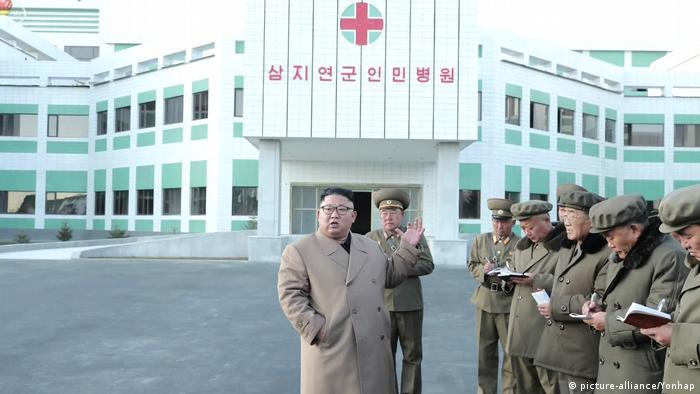 Kim Jong Un visits a construction site of a hospital