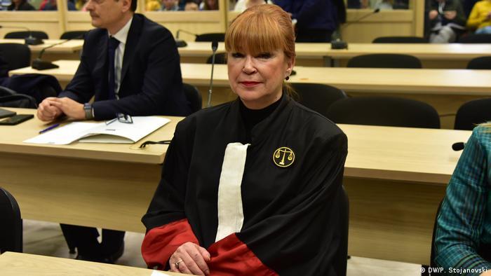 Nord-Mazedonien Prozess Reket, Gerichtssaal in Skopje