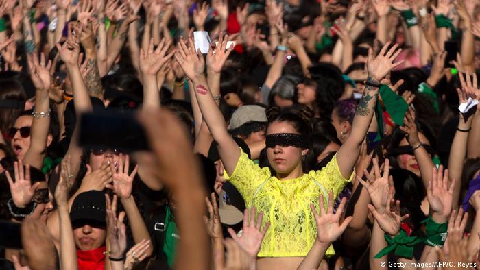 Foto de protestas feministas en Chile
