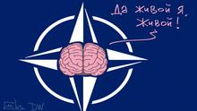 DW-Karikatur von Sergey Elkin - NATO-Gipfel in London