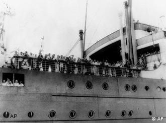 A 1939 photo of German Jewish refugees aboard the German liner Saint Louis