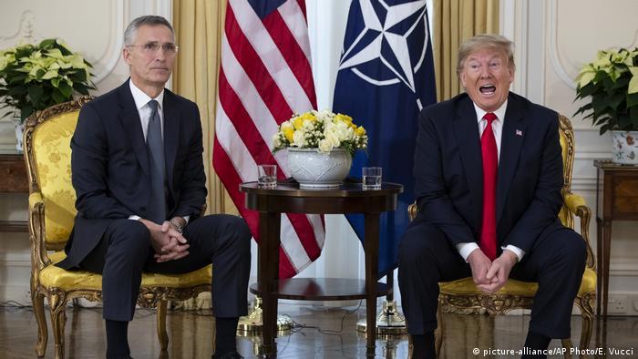 NATO-Gipfel in Großbritannien | NATO-Generalsekretär Stoltenberg und US-Präsident Trump