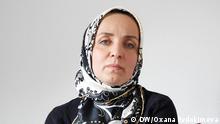 Manana Zatijewa, ex-Frau von Selimkhan Khangoschwili, des ehemaligen tschetschenischen Rebellen, der am 23.8.2019 in Berlin hingerichtet wurde. Bild: Oxana Evdokimova,