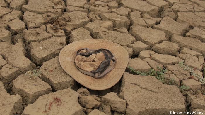 Hat lying on dried-out mud in Mt. Darwin, Zimbabwe