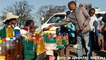 Simbabwe Markt in Harare | Verkauf von Lebensmittel-Öl