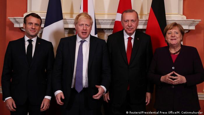 ميركل وأردوغان وجونسون وماكرون في قمة رباعية بلندن على هامش احتفالات حلف الناتو.