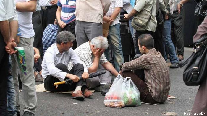 Iran Schlange stehen für Nahrungsmittel (eghtesaad24)