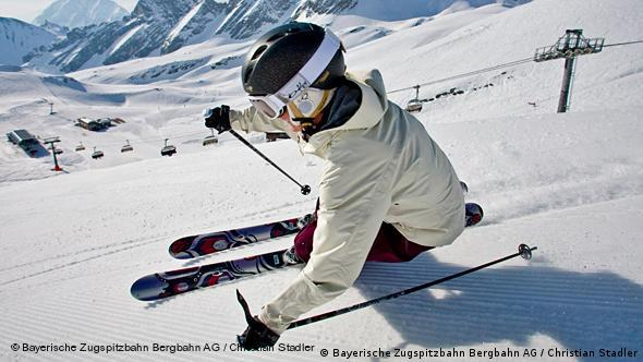A skier on the Zugspitze