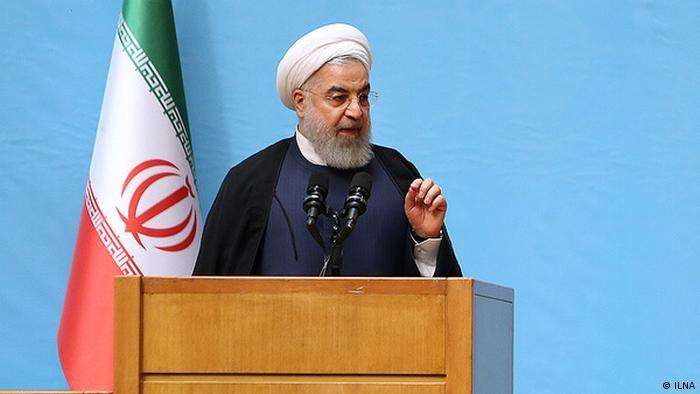 Hassan Rohani Rede zum Thema Atomstreit (ILNA)
