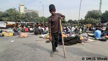 Indien Neu Delhi | Menschen mit Behinderung protestieren für Jobs