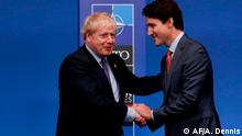 England NATO Gipfel in London | Boris Johnson und Justin Trudeau