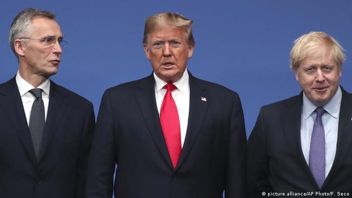 UK NATO-Treffen in London l Stoltenberg, Trump und Johnson