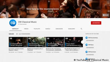 Screenshot | DW YouTube Kanal Classical Music (YouTube/DW Classical Music)
