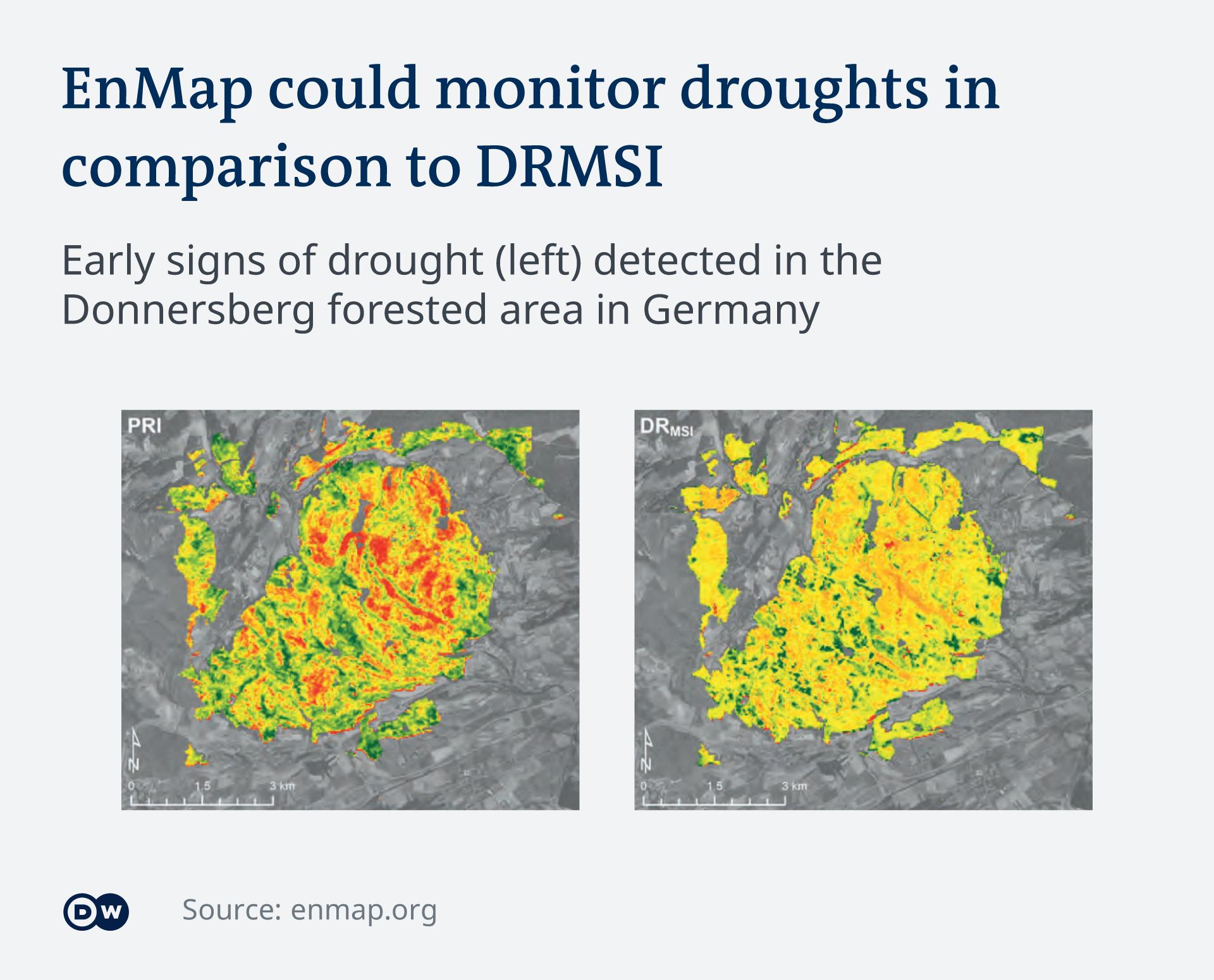 Infografik EnMap Satellit Dürre EN
