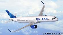 Flugzeug Illustration l Airbus - United
