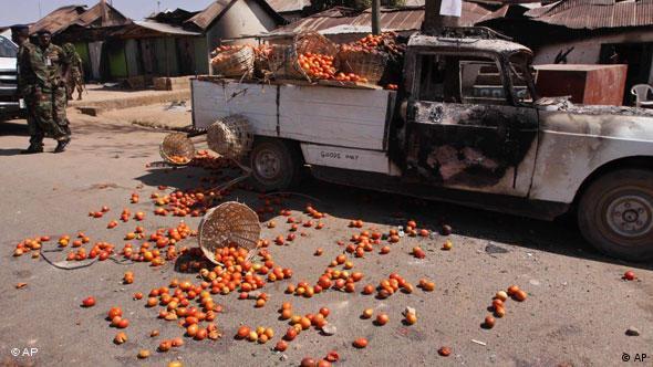 Ausgebrannter Truck (Bild: AP)