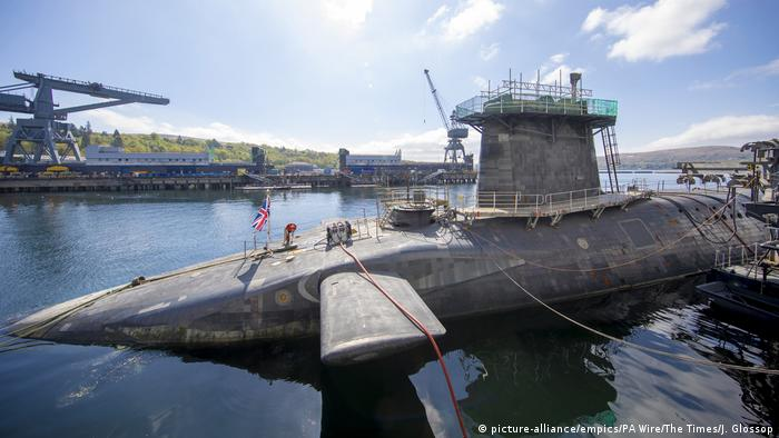 A nuclear submarine at HM Naval Base Clyde