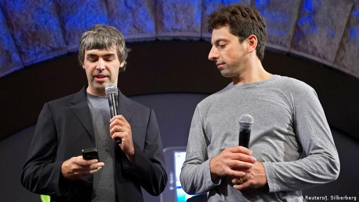 USA Google CEO l Larry Page and Sergey Brin, (Reuters/J. Silberberg)