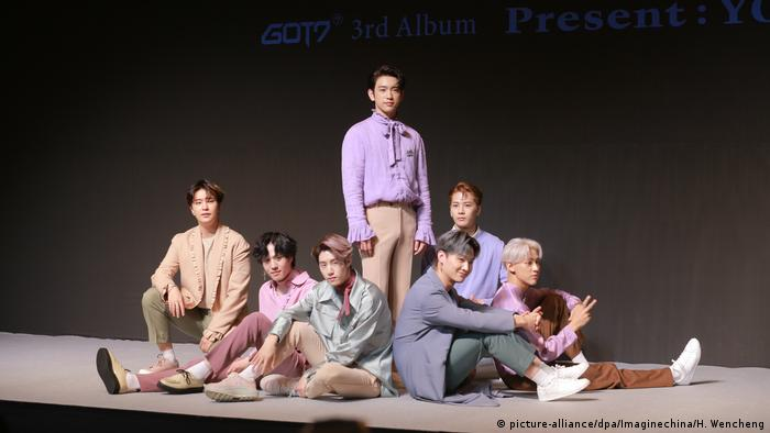 Foto der K-Pop-Band Got7. (picture-alliance/dpa/Imaginechina/H. Wencheng)