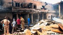 Sudan Khartoum Feuer in Fabrik