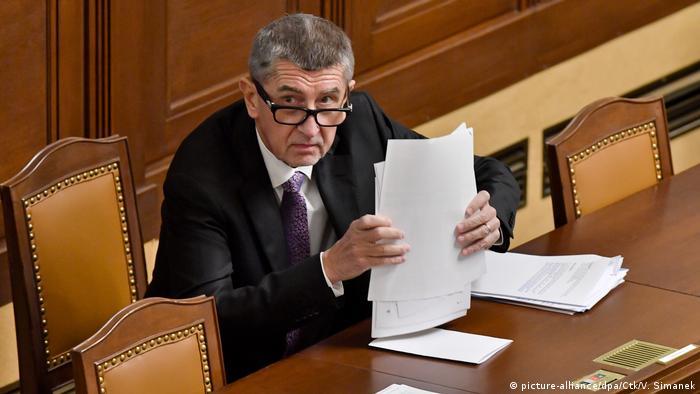 Czech Prime Minister Andrej Babis (picture-alliance/dpa/Ctk/V. Simanek)