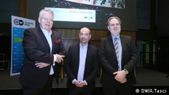 DW's Peter Limbourg, Christian Berger and Rolf Rische