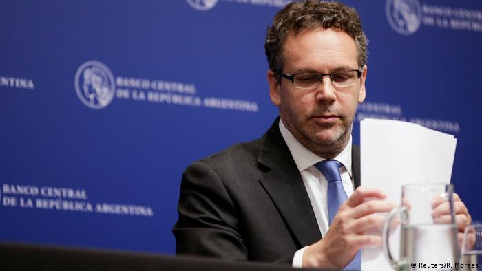 Argentinien Zentralbankchef Guido Sandleris tritt zurück